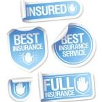 Insurance service stickers. — Stock Vector #14197482