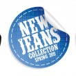 New jeans collection stickers - Stock Vector
