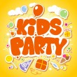 Royalty-Free Stock Vector Image: Kids Party design template.