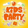 Kids Party design template. — Stock Vector #14197642