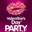 Valentines Day Party design template. - Stok Vektr