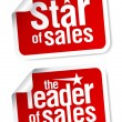 Leader of sales stickers. — Stock Vector #14197772
