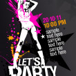 Lets Party design template. - Stock Vector