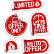 Limited offer sale stickers. — 图库矢量图片