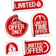 Vector de stock : Limited offer sale stickers.