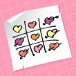 Royalty-Free Stock Vector Image: Tic Tac Toe Hearts