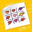 Tic Tac Toe Hearts - Stock vektor