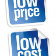 Low price stickers set. - Stock vektor