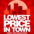 Lowest price in town sale design. — Cтоковый вектор
