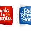 Stock Vector: Labels for gifts from Santa.