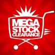 Mega stock clearance design. - Stock vektor