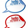 Name tag blank stickers set. - Stock Vector