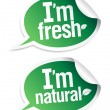 Natural product stickers - Stock Vector