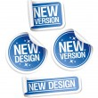 New Design and Version stickers. — Stock Vector #14198316