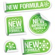 New Formula stickers. - Stock Vector