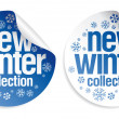 New winter collection stickers - Stock Vector