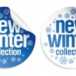 Stock Vector: New winter collection stickers