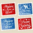 Royalty-Free Stock Vector Image: Christmas postage stamps.
