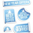 Stock Vector: Best New Year offer stickers.