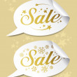 Winter Sale stickers — Stock Vector