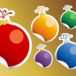Christmas Toy stickers. — Stock vektor