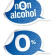 Stock Vector: Non-alcohol drinks stickers