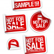 Sample not for sale stickers. - Stok Vektr