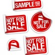 Sample not for sale stickers. - Stock Vector