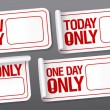 Only now stickers with place for price. — Stockvectorbeeld