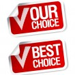 Our choice stickers. — Stockvektor