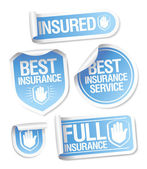 Insurance service stickers. — Vettoriale Stock
