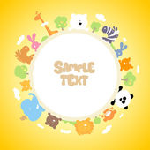 Round children frame design. — Vector de stock