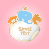 Baby's Sticker with place for text. — Cтоковый вектор