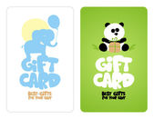 Gift cards for baby. — Stock Vector
