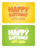 Birthday gift cards. — Stock Vector