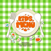 Kids menu. — Stockvektor