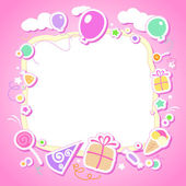 Template for baby's photo album. — Stock Vector