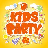 шаблон оформления дети партии. — Cтоковый вектор