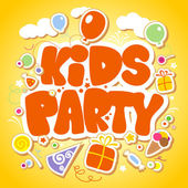 Kids Party design template. — Vettoriale Stock