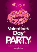 Valentines Day Party design template. — Vector de stock