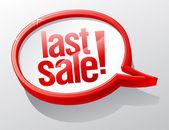 Last Sale speech bubble. — Stockvektor