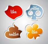 Like and unlike stikers. — Stock Vector