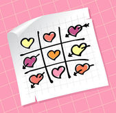 Tic Tac Toe Hearts — Stock Vector