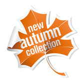 Autumn collection sticker — Stock Vector