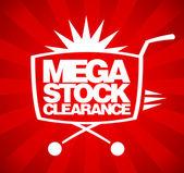 Mega lagerreduktion design. — Stockvektor
