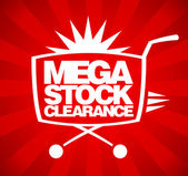 Mega stock clearance design. — Stok Vektör