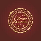 с рождеством христовым печать — Cтоковый вектор