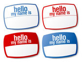 Hello my name is color signs. — Stock Vector