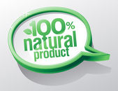 Natural product speech bubble. — Stock Vector