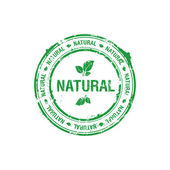 Ecology natural stamp — Stock Vector